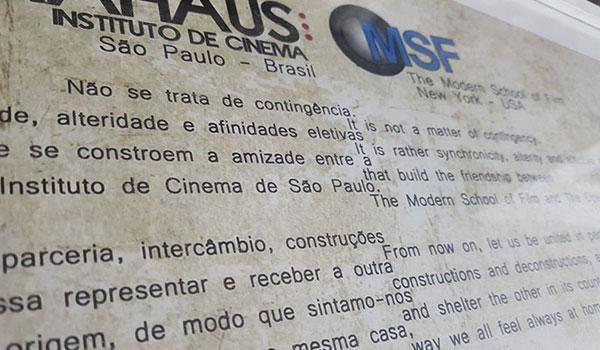 Contrato - Instituto de cinema e Modern School of Film